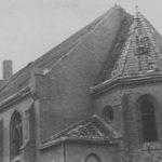 Zerstörte Kirche, Ansicht von Südosten, vor 1948