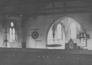 Kirche, Blick zum Altar, vor Mitte 1950er Jahre