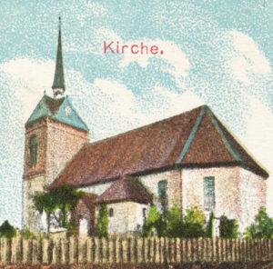 Kirche, Ansicht von Südosten, 1904, Postkarte