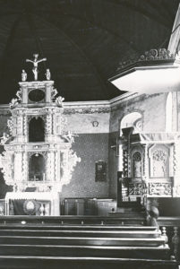 Kirche, Blick zum Altar, 1928, Niedersächsisches Landesverwaltungsamt Hannover, Landeskonservator
