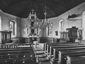Kirche, Blick zum Altar, 1969