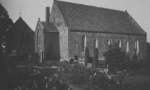 Kirche, Ansicht von Südwesten, 1949