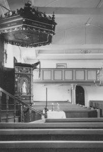 Kirche, Blick zur Westempore, 1959, Foto: Ernst Witt, Hannover