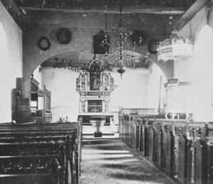 Kirche, Blick zum Altar, vor 1912 (?)