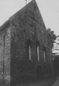 Kirche in Remels, Ansicht von Südosten, Teilansicht: Ostgiebel