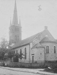 Kirche, Ansicht von Südosten, vor 1969