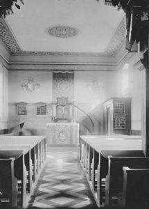 Kapelle, Blick zum Altar, nach 1896, vor Anfang der 1950er Jahre