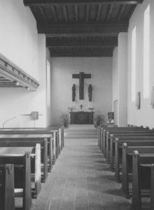 Kirche, Blick zum Altar, 1956, Foto: Ernst Witt, Hannover