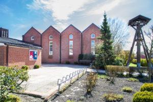 Kirche, Glockenträger, Nordwestansicht