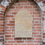 Kirche, Gedenktafel Fabricius