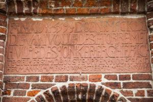 Kirche, Bauinschrift