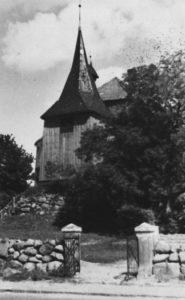 Kirche, Ansicht von Südwesten, Teilansicht, um 1948