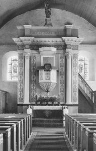 Kirche, Blick zum Altar, wohl vor 1963