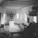 Kirche, Blick zum Altar, Foto: Ernst Witt, Hannover, Oktober 1958