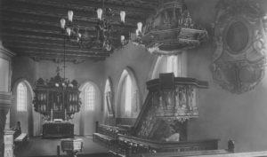 Kirche, Blick zum Altar, vor 1958 (?)