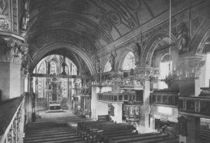 Kirche, Blick zum Altar, vor 1967
