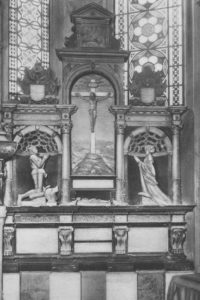 Kirche, Chor, Epitaph von Herzog Ernst dem Bekenner und seiner Frau Sophie von Mecklenburg, vor 1967