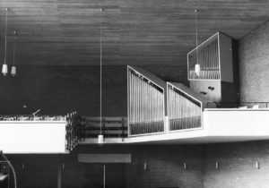 Kirche, Blick zur Orgel, nach 1964, vor 1986