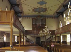 Kirche, Blick zur Orgel, Foto: Ernst Günther Behn, Klein Gußborn 2009/10 (gemeinfrei)