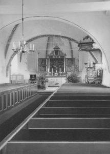 Kirche, Blick zum Altar, Foto: Ernst Witt, Hannover, Juni 1959