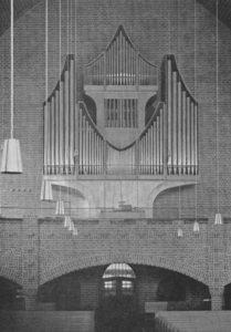Kirche, Blick zur Orgel, um 1975