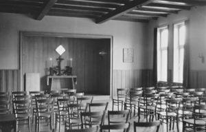 Gemeindehaus, Kirchsaal, Blick zum Altar