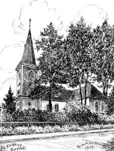 Kirche, Ansicht von Südwesten, 1948