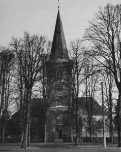 Kirche, Ansicht von Westen, um 1960