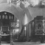 Kirche, Blick zum Altar und zur Orgel, vor 1962