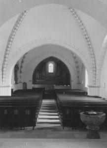Kirche, Blick zur Orgel, Foto: Ernst Witt, Hannover, September 1964
