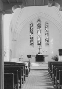 Kirche, Blick zum Altar, Foto: Ernst Witt, Hannover, August 1965
