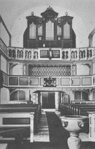 Kirche, Blick zur Orgel, 1949