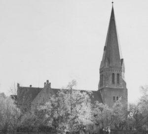 Kirche, Ansicht von Nordosten, um 1952