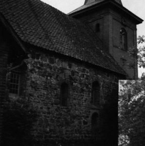 Kirche, Teilansicht von Nordosten, um 1960