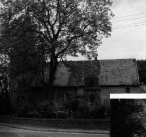 Kirche, Ansicht von Süden, um 1960