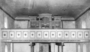 Kirche, Blick zur Orgel, vor 1963