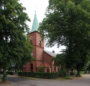 Oyten, Kirche, Südwestansicht