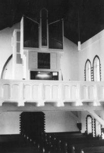 Kirche, Blick zur Orgel, nach 1969