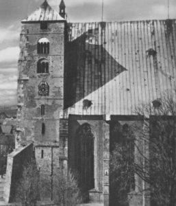 Kirche, Ansicht von Südosten, Teilansicht, 1900