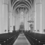 Kirche, Blick zum Altar, Foto: Ernst Witt, Hannover, August 1969