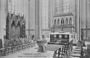 Kirche, Blick in den Chor, 1912