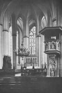 Kirche, Blick in den Chor, 1926