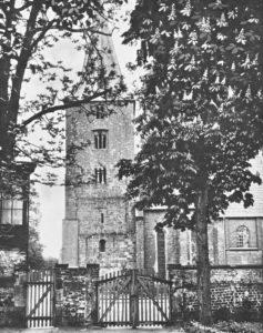 Kirche, Ansicht von Süden, Teilansicht, um 1900