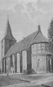 Kirche, Ansicht von Südosten, Postkarte, vor 1969