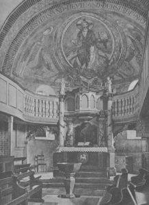 Kirche, Blick in den Chorraum, vor 1956