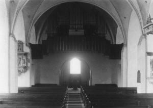 Kirche, Blick zur Orgel, nach 1938, vor 1967