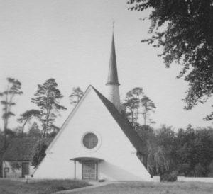 Kirche, Ansicht von Südosten, Foto: Ernst Witt, Hannover, September 1960
