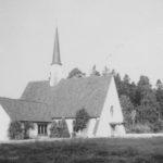 Kirche, Ansicht von Südwesten, Foto: Ernst Witt, Hannover, September 1960