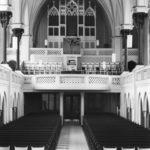 Kirche, Blick zur Orgel, nach 1965, vor 1982