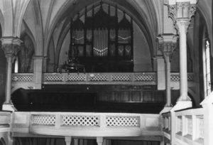 Orgel, 1962 [vor der Neugestaltung des Innenraumes (1962)] (Orgelprospekt: Zustand 1962)